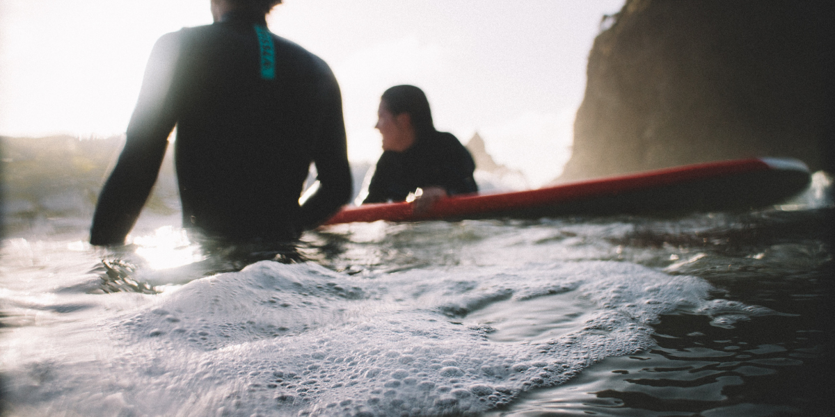 Image of people enjoying a surfing experience in north wales