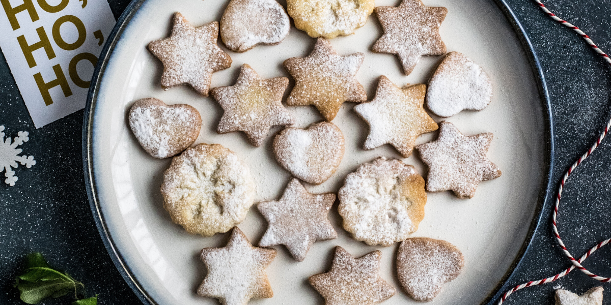 Image of homemade christmas biscuits to make christmas cheaper