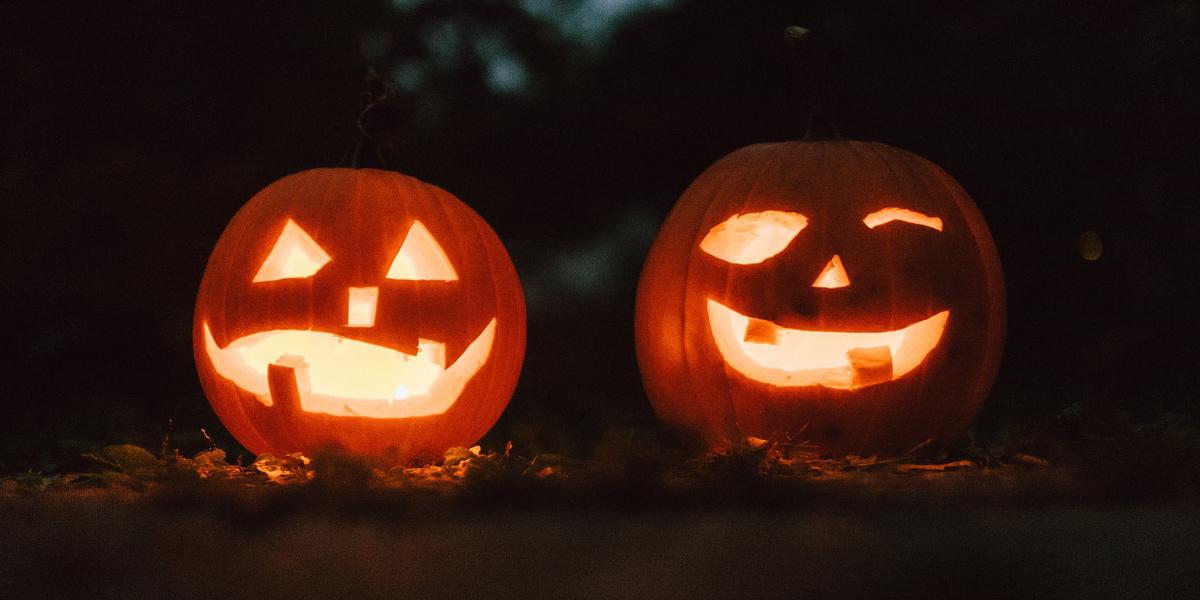 Image of Halloween carved pumpkins
